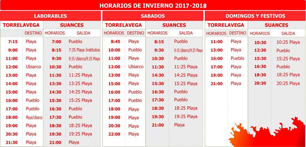 Horarios Invierno 2016/2017